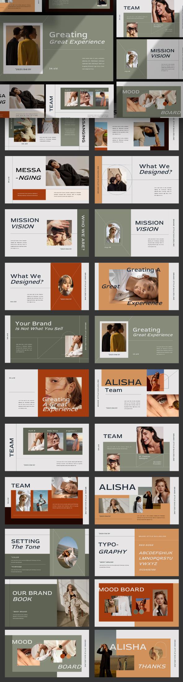 Alisha Brand Presentation Template