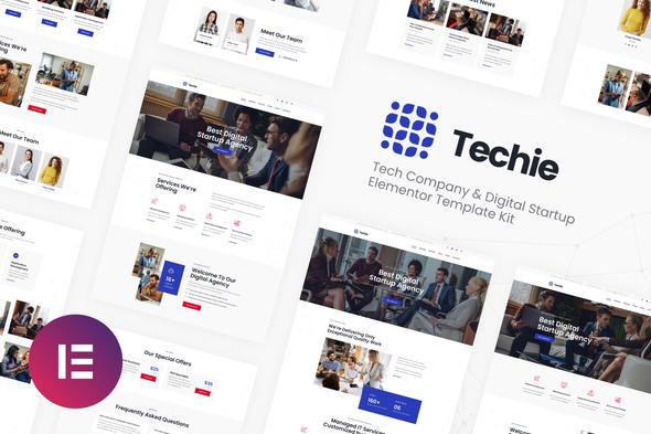 Techie   Tech Company & Digital Startup Elementor Template Kit