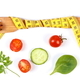 Wooden fork wrapped centimeter and fresh vegetables, concept of slimming and healthy nutrition - PhotoDune Item for Sale