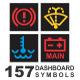 157 Dashboard Symbols - GraphicRiver Item for Sale