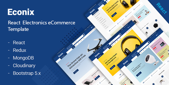 Econix - React Express JS eCommerce Template