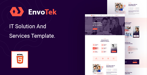 EnvoTek – IT Solution and Services HTML5 Template