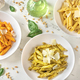 Penne pasta with various pesto sauces - PhotoDune Item for Sale