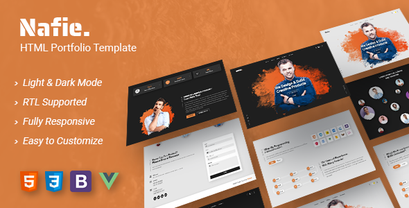Nafie – HTML Portfolio Template