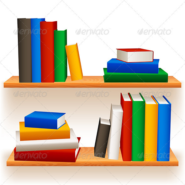 Bookshelves - Objects Vectors