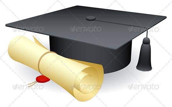 Graduation Cap - Objects Vectors