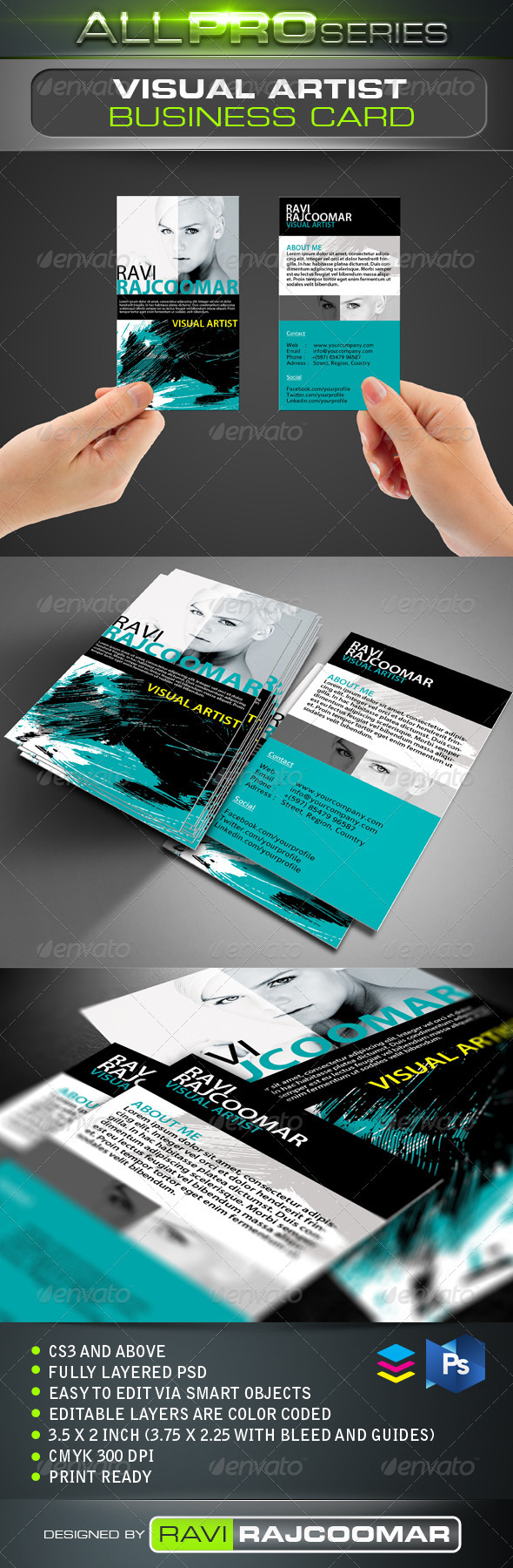 Visual Artist Business Card - Creative Business Cards