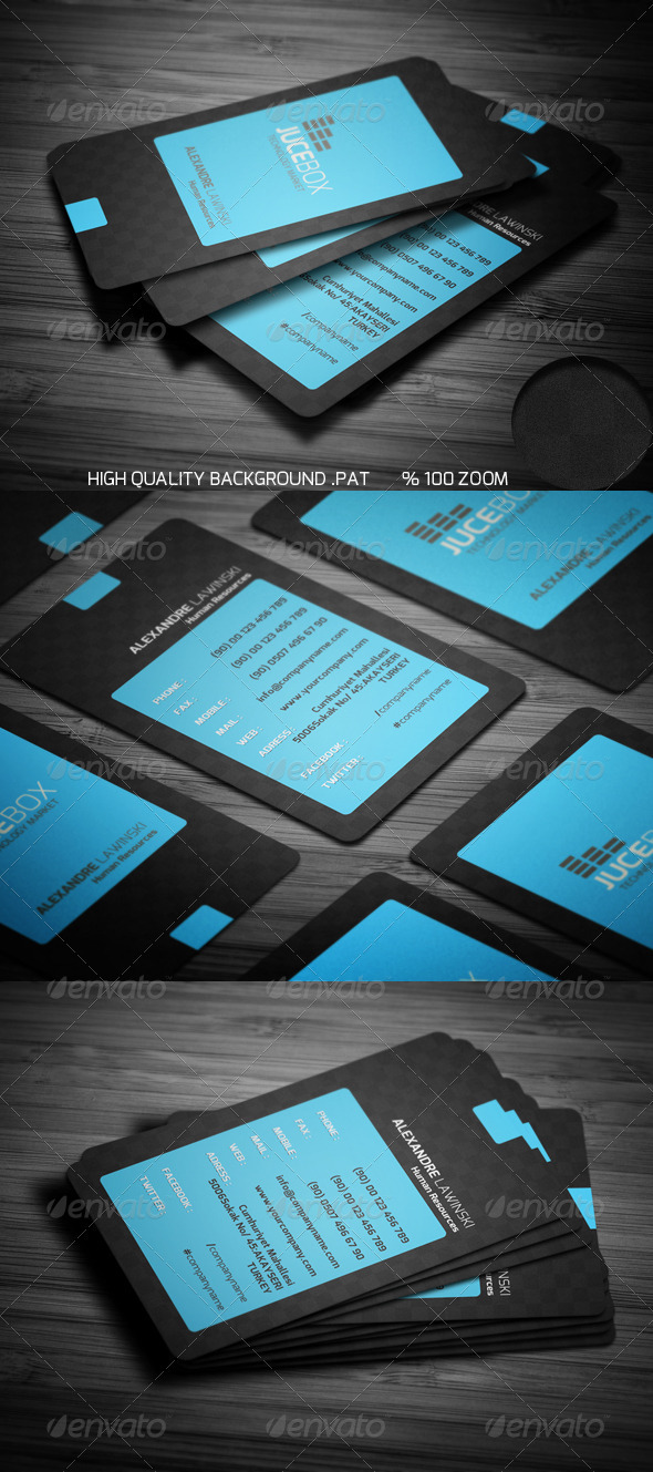Blue Modern Business Card - Corporate Business Cards