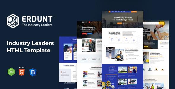 Erdunt – Industrial Business HTML Template