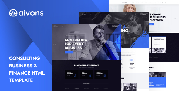 Aivons – Business Consulting HTML Template