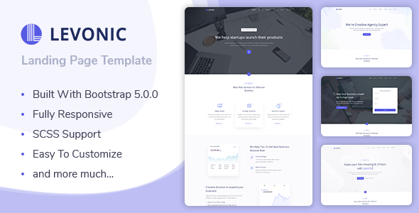 Levonic - Bootstrap 5 Landing Page Template
