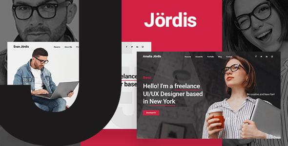 Jordis – Bootstrap 4 Personal Portfolio Template