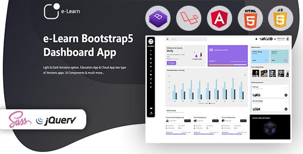 e-Learn – Education Bootstrap5 Admin Template & UI kit
