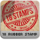 18 Editable Rubber Stamps Bundle - GraphicRiver Item for Sale