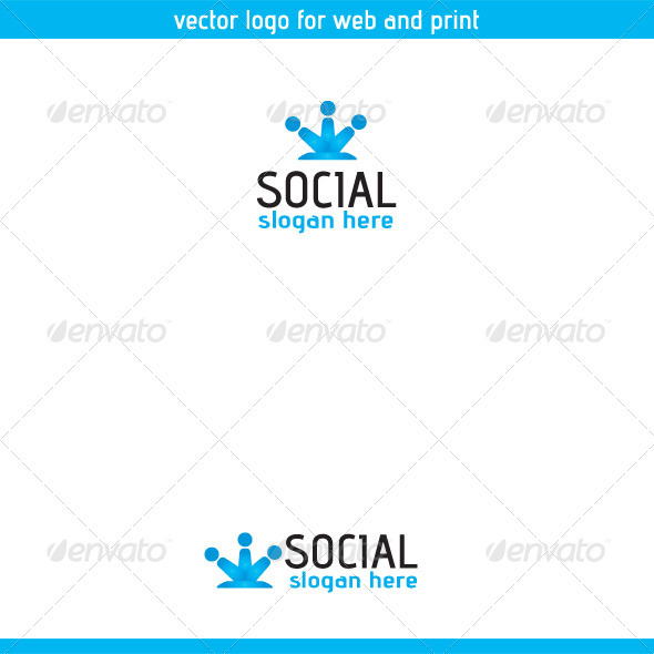 Social Logo Template Three - Symbols Logo Templates