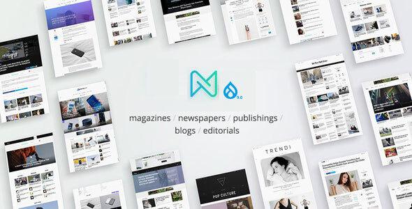 Newspaper - Optimized Drupal 9 RTL Magazine theme