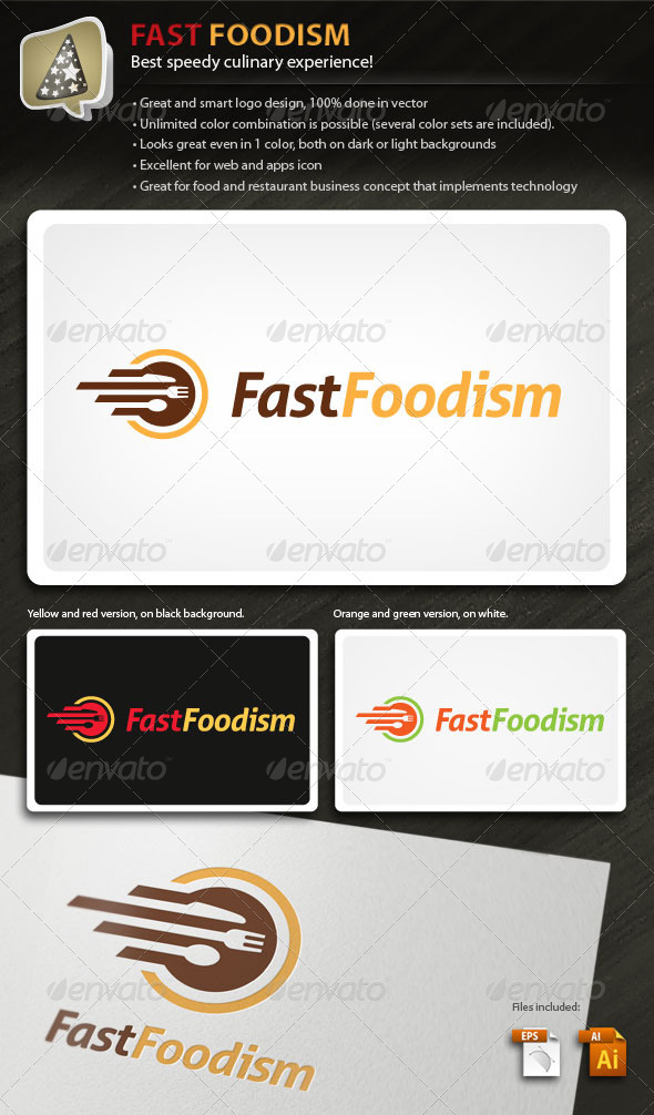 FastFoodism - Logo For Food And Culinary Business - Objects Logo Templates