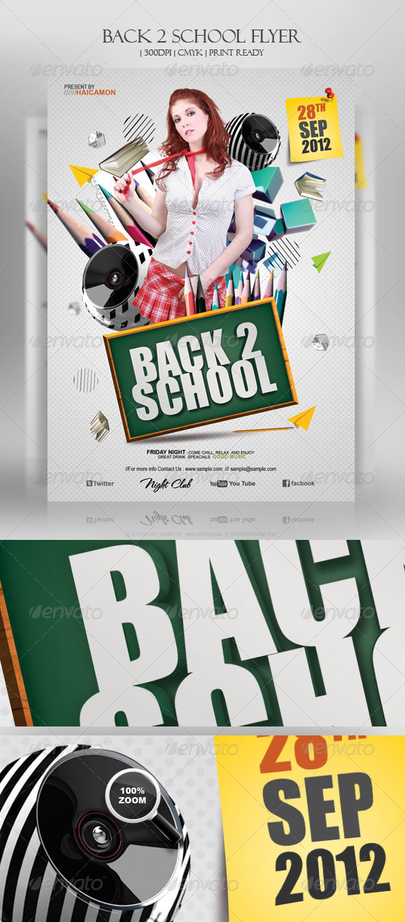 Back 2 School Flyer - Clubs & Parties Events