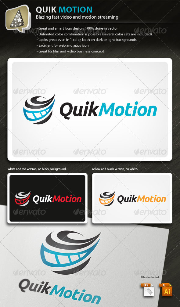 QuikMotion - Logo For Film And Video Business - Objects Logo Templates