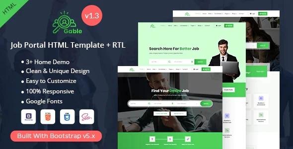 Gable - Job Portal HTML Template