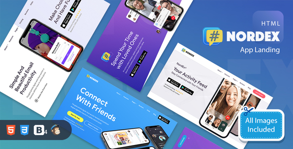 NordEx - Premium App Landing Pages Pack Template