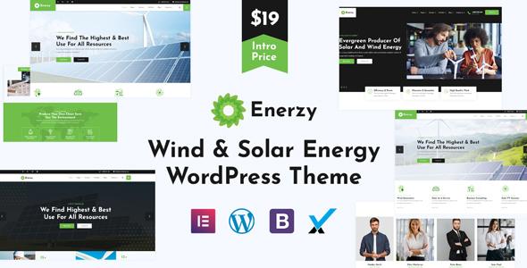 Enerzy - Wind & Solar Energy WordPress Theme