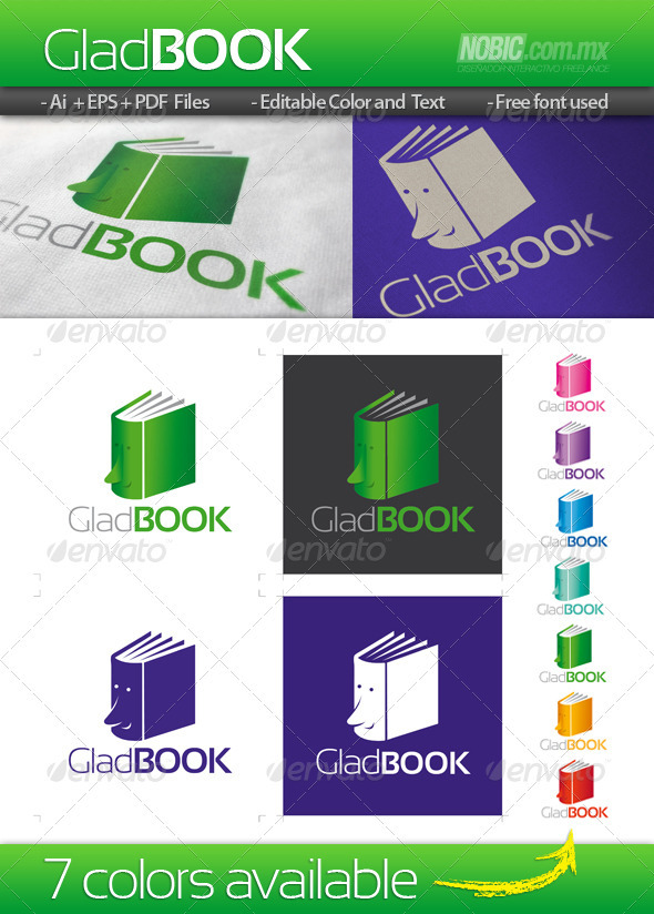 Glad Book Logo Template - Objects Logo Templates