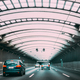 Speeding Cars Traffic Inside A Highway Urban Tunnel. Trip Travel Concept On Vehicle. Urban City Road - PhotoDune Item for Sale
