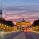 The famous Brandenburg Gate in Berlin before sunrise - PhotoDune Item for Sale