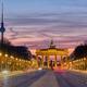 The famous Brandenburg Gate in Berlin before sunrise - PhotoDune Item for Sale