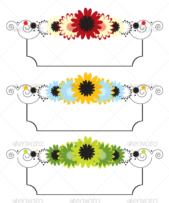 Vector Floral Banner - Decorative Vectors