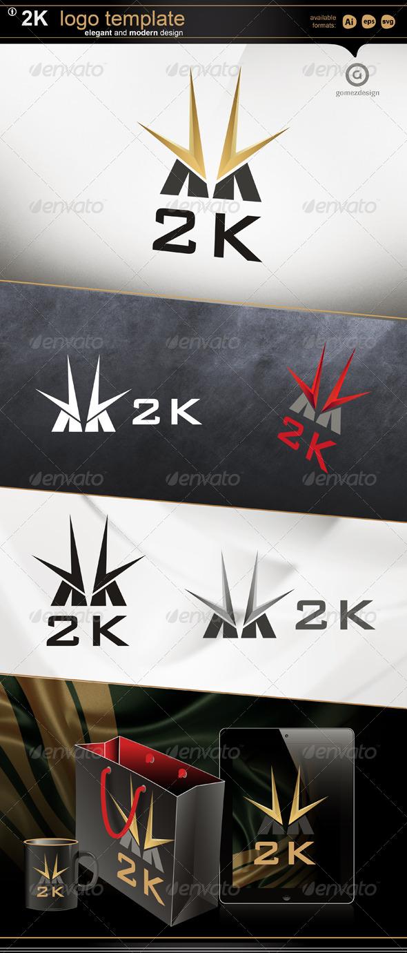 2k - Letters Logo Templates