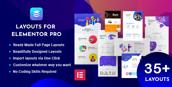 Download Layouts for Elementor Pro Free Nulled