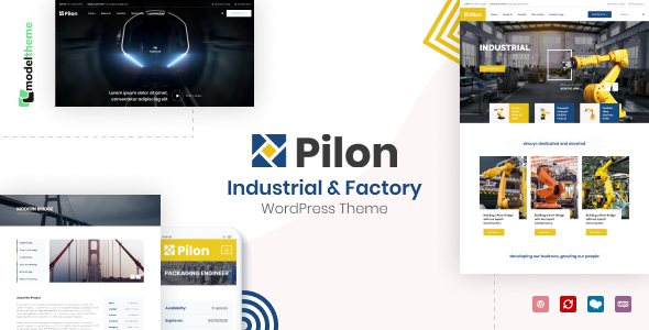 Exceptional Pilon - Industrial & Factory WordPress Theme