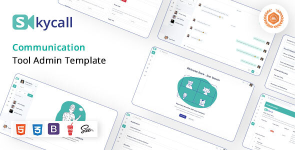 Skycall | Communication Admin Template