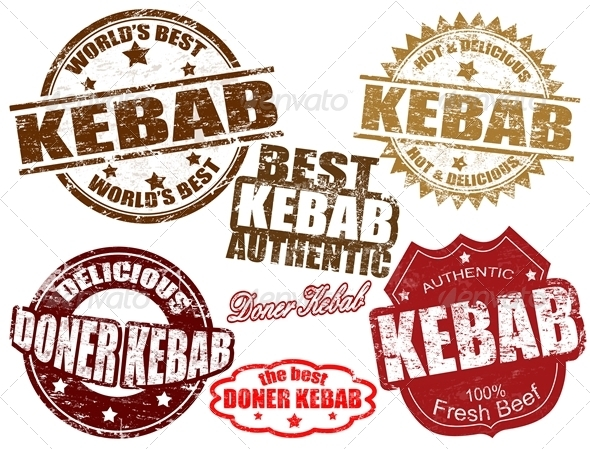 Kebab stamps - Food Objects