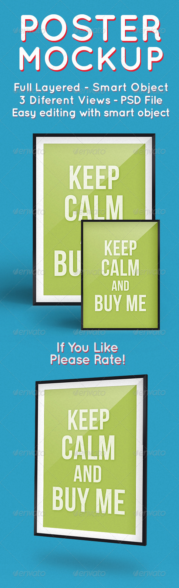 Color Poster MockUp - Posters Print