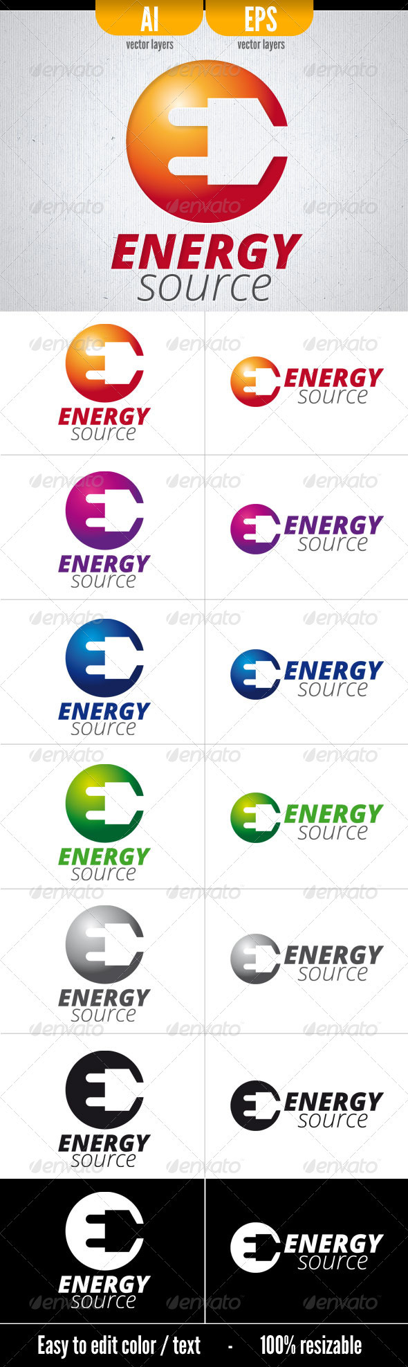 Energy Source . Logo Template - Objects Logo Templates