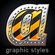 Illustrator Graphic Styles. Dangerous - GraphicRiver Item for Sale