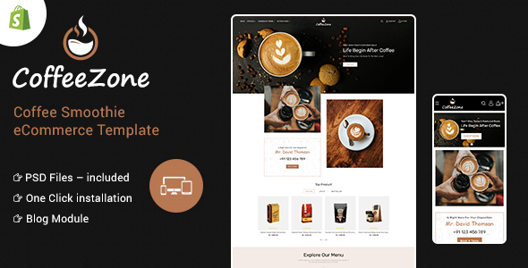 CoffeeZone Multipurpose E-commerce Shopify Template