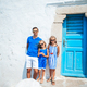 Family having fun outdoors on Mykonos island - PhotoDune Item for Sale