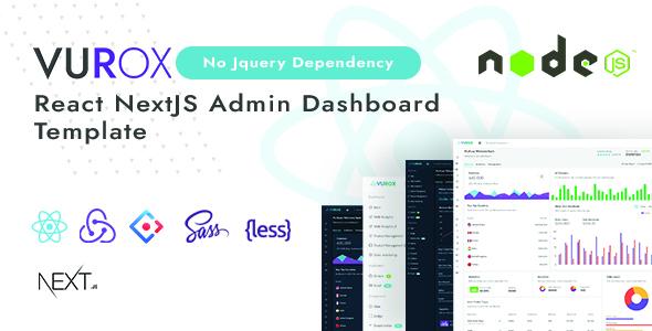 Vurox - React NextJs Admin Template