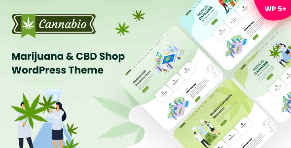 Cannabio - Marijuana and Cannabis WordPress Theme