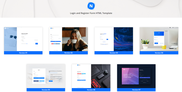 Nimoy – Login and Register Form HTML Template