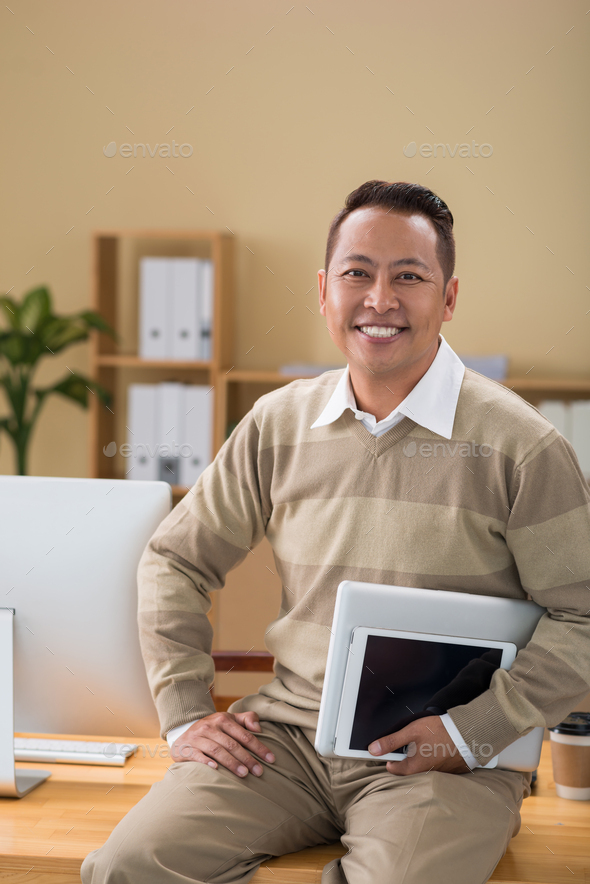 Happy businessman - Stock Photo - Images