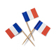 Miniature French flag cocktail sticks on white background - PhotoDune Item for Sale