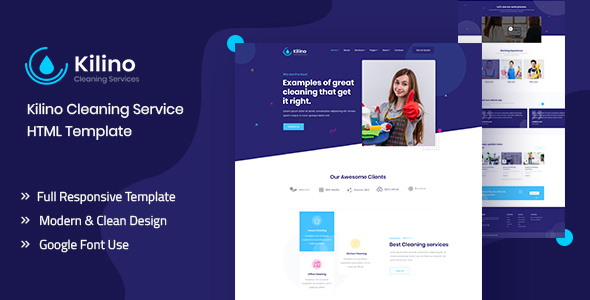 Kilino – Cleaning HTML Template