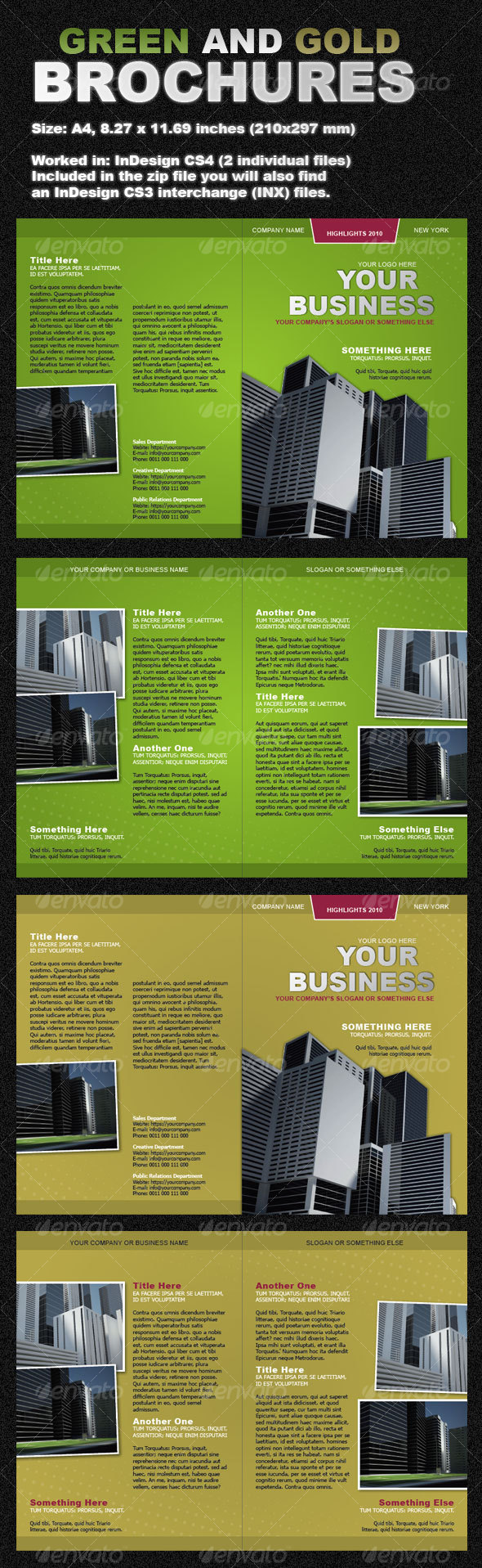 Green and Gold Brochures two-fold - Corporate Brochures