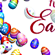 Happy Easter - Greetings with Easter Eggs Background - VideoHive Item for Sale