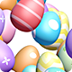 Happy Easter Greetings Background - Pastel Color Eggs - VideoHive Item for Sale
